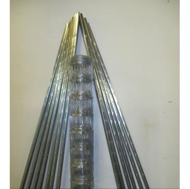 Set 150 eng, 1Rolle Wildzaun 150cm Höhe und 13 Z-Profil Zaunpfosten mit je 210cm Höhe